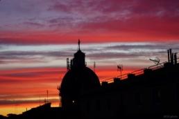 roma cupola tramonto